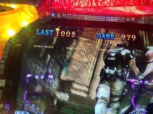 バイオハザード5のART残りゲーム数が1000G以上!