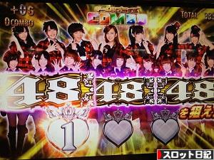 パチスロAKB48 チームサプライズコンボから上乗せ!